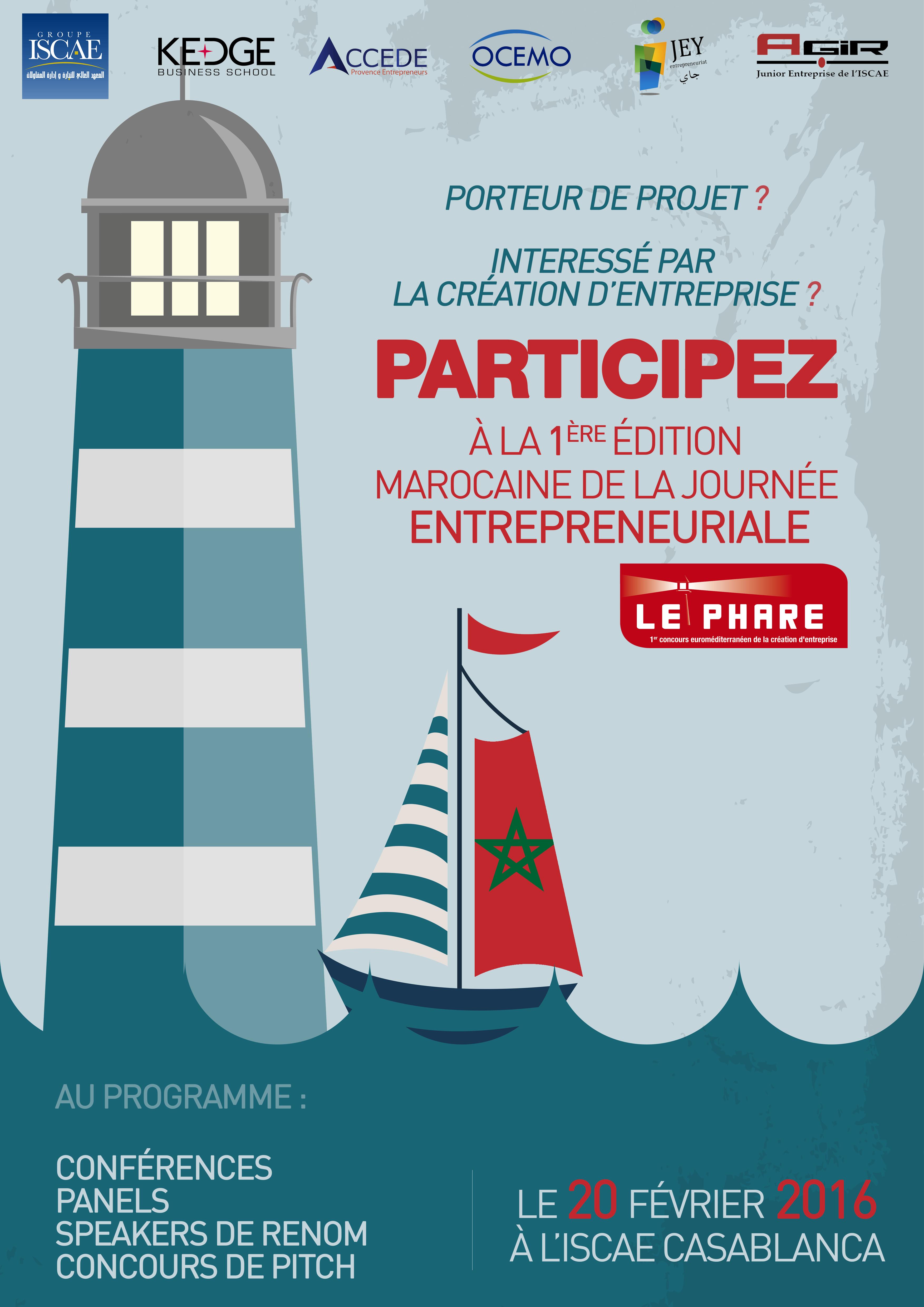 Première édition du concours d'entrepreneuriat Le Phare marocain !
